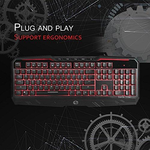 (Kytree KM9025U USB Wired Keyboard Ergonomic Design Multimedia Backlight)