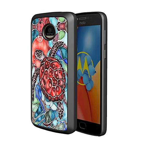 Moto E4 Case Tortoise Make Your Phone Stand Out. Always Keep Your Equipment Conservative and Easy to wear Off, Black