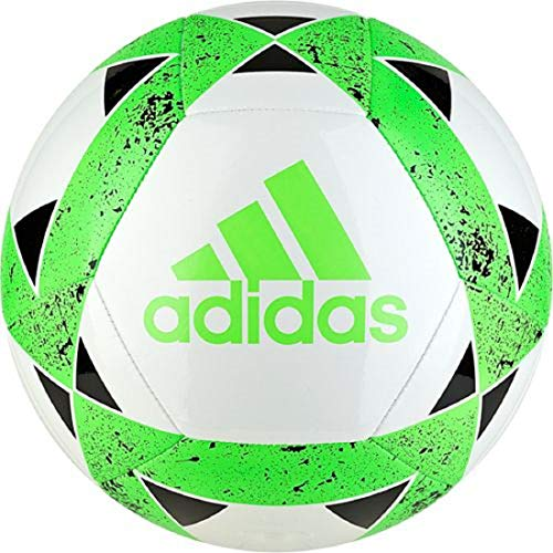 adidas Starlancer V Soccer Balls (White/Solar Green/Black, 5)
