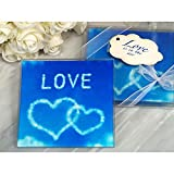 Love is in the Air Glass Coasters - 84 Sets