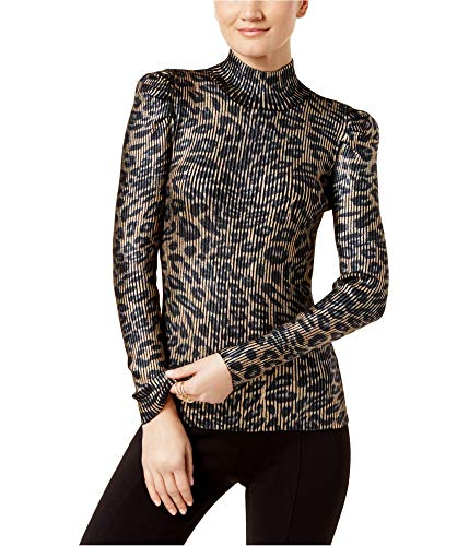 Nylon Sweater Metallic (I-N-C Womens Mock Neck Pullover Sweater Metallic XL)