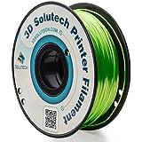 3D Solutech Green 3D Printer Ultra PLA Filament 1.75MM Filament, Dimensional Accuracy +/- 0.03 mm, 2.2 LBS (1.0KG) - 100% USA