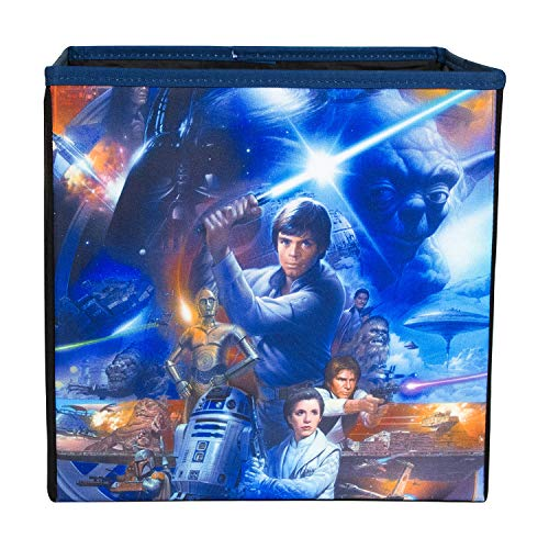 Everything Mary Star Wars Collapsible Storage Bin by Disney - Cube Organizer for Closet, Kids Bedroom Box, Playroom Chest - Foldable Home Decor Basket Container with Strong Handles and Design