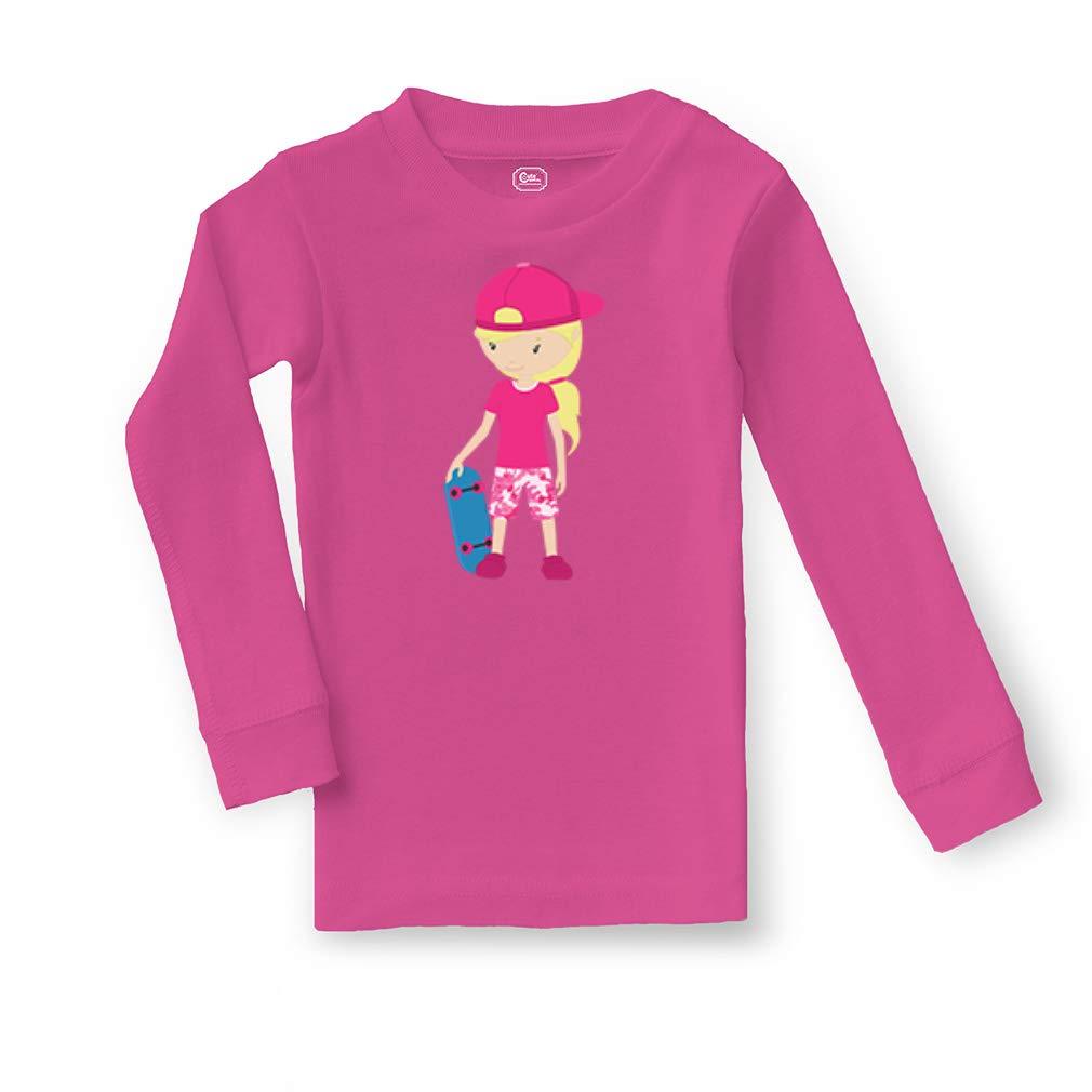 Skater Girl Cotton Crewneck Boys-Girls Infant Sleepwear Pajama 2 Pcs Set