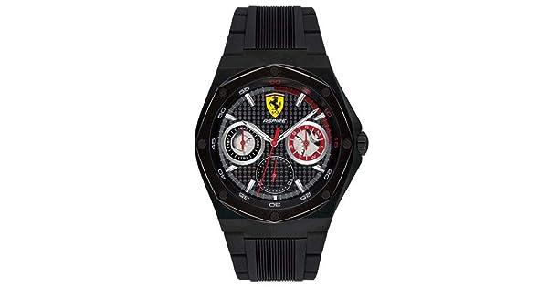 c7a3b650b30 Relógio Scuderia Ferrari Masculino Borracha Preta - 830538  Amazon.com.br   Amazon Moda