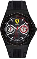 Relogio Scuderia Ferrari Masculino Borracha Preta - 830538