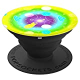 Planet UFO Abstract Purple Green Blue Yellow Effect Universe - PopSockets Grip and Stand for Phones and Tablets