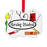 CafePress - Nursing Student Pillow - Christmas Ornament, Decorative Tree Ornament