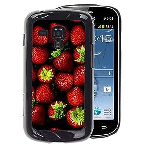A-type Arte & diseño plástico duro Fundas Cover Cubre Hard Case Cover para Samsung Galaxy S Duos S7562 (Strawberry Red Berries Summer Green)