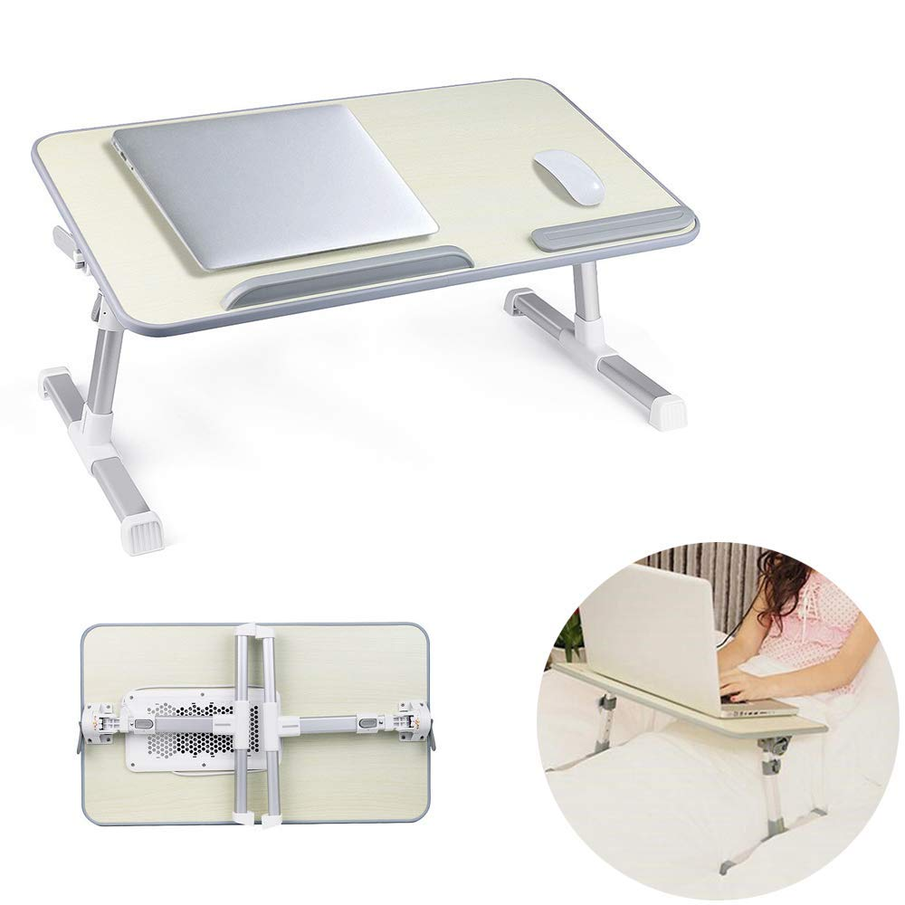 Saying Laptop Table for Bed, Foldable Lap Desks, Bed Desk Height Adjustable, Portable Bed Tray Table for Couch and Sofa, Laptop Stand for Lap and Writing, [Ship from USA Directly]
