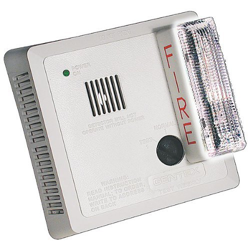Remote Gentex Strobe - Gentex 7109LS Wall Mount Photoelectric Smoke Alarm w/ Strobe & Battery Backup (With Strobe & Battery Backup)