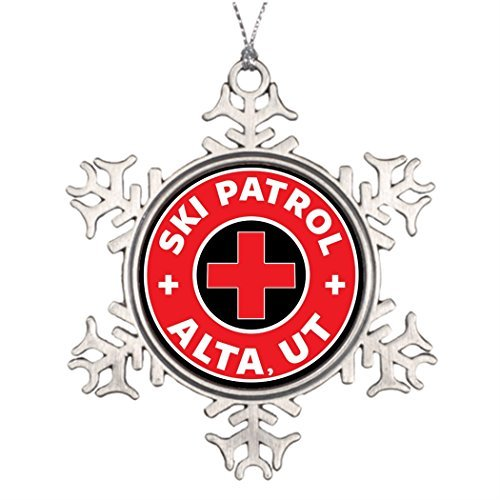Ideas Christmas Outdoor Decorating (Valerie Ideas for Decorating Christmas Trees Alta Utah Ski Patrol Mountains Ski Skiing Outdoor Christmas Tree Snowflake Ornaments Mountains)