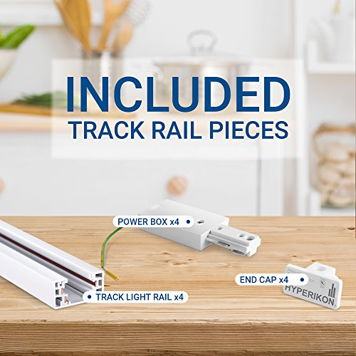 Hyperikon Track Lighting Section, 4ft H Track Rail, White Single Circuit 3-Wire Track Rail (Pack of 4) by Hyperikon (Image #3)