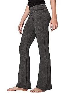 315ba6b748a27 SERHOM Women Boot Cut Yoga Pants 4 Way Stretch Bootleg Yoga Pants Leggings  with Hidden Pockets