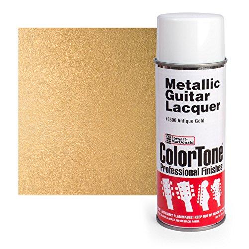 Colortone Metallic Aerosol Guitar Lacquer, Antique Gold
