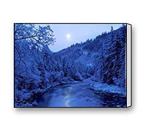 Frozen River Canvas Prints for Modern Wall Art for Home Decoration 16 X 12 Inch