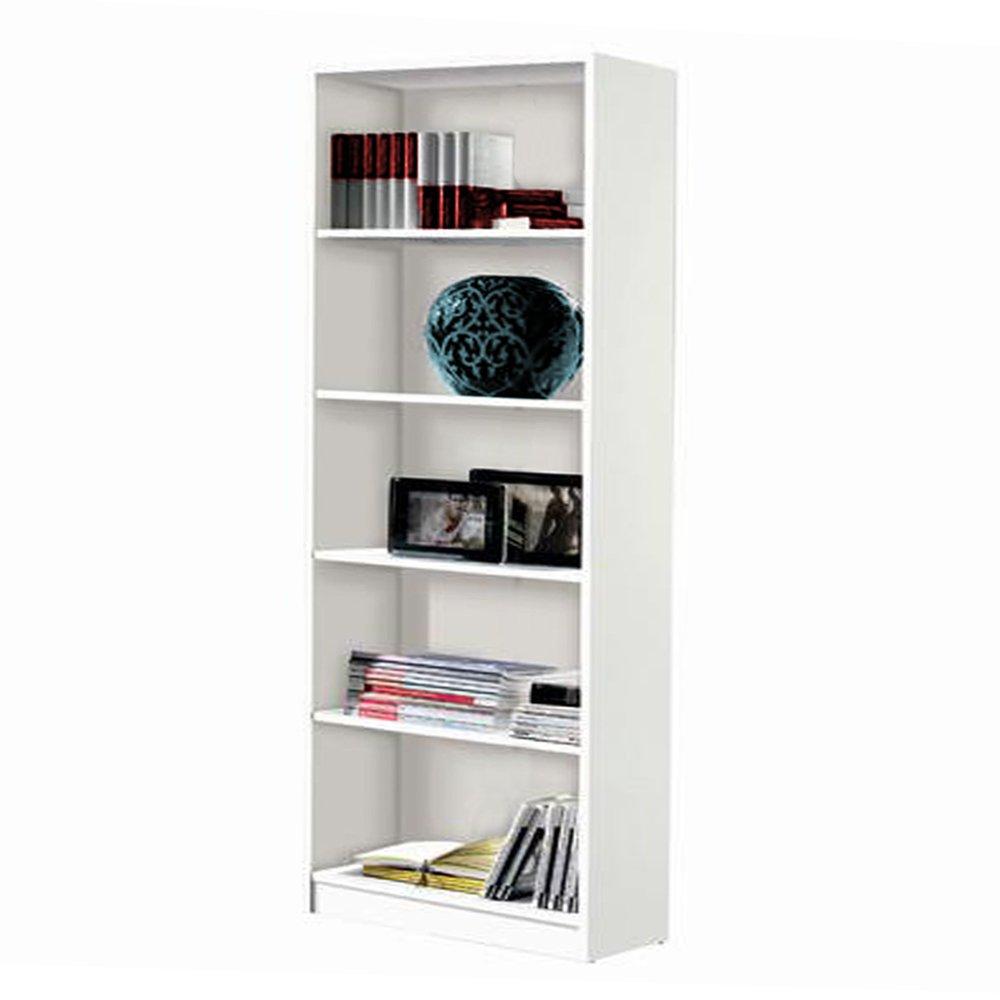 Estantería alta 5 estantes 180 x 75 x 25 color blanco product image