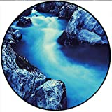 Round Mat Rug      *This beautiful rug is unique,stylish and ready to accent your decor with authentic elegance.   *Add warmth & elegance to your house with the vibrant colors of our affordable collection.   *A non-skid backing eliminates...