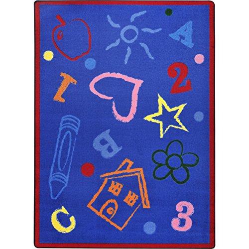 "UPC 015961513919, Joy Carpets Playful Patterns Kid's Art Children Area Rug, Rainbow, 7'8"" x 10'9"""