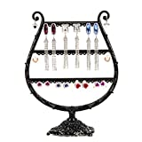 Earring Holder Metal Jewelry Display Organizer Necklace Hanger Rack Stand with Tray