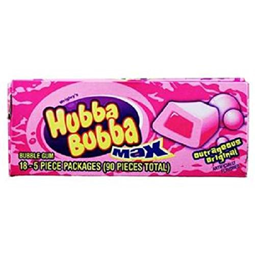 Product Of Hubba Bubba Max, Outrageous Original, Count 18 (5S) - Gum / Grab Varieties & (Hubba Bubba Flavors)