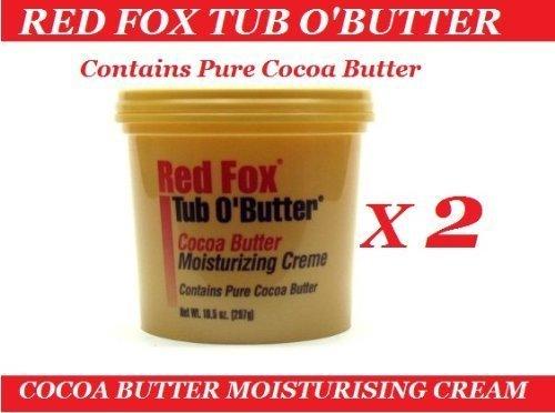 2 x RED FOX PURE COCOA BUTTER MOISTURISING CRÈME 10.5 Oz ()