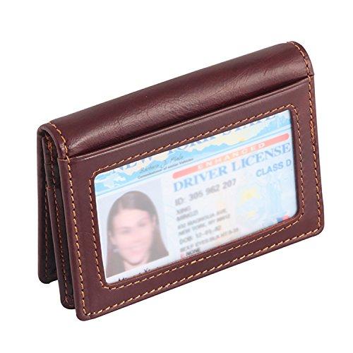 IDEAWIN Bifold RFID Blocking Card Wallet Card Holder ID Window Front Pocket Wallet