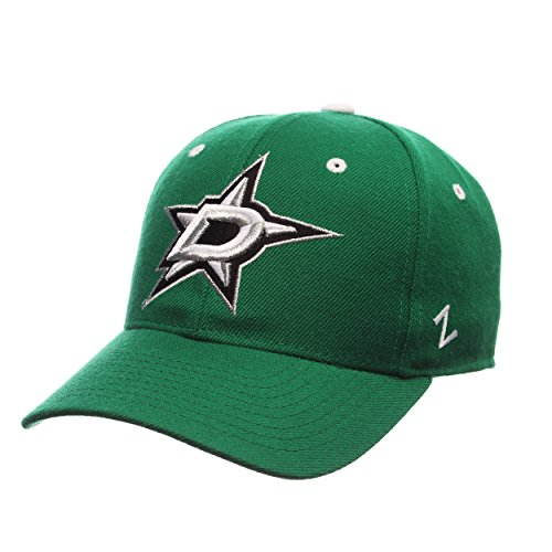 Zephyr NHL Dallas Stars Men's Power Play Fitted Hat, Size 71/4, Kelly ()