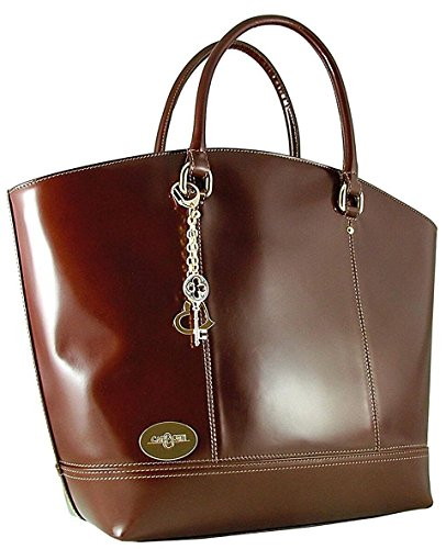 CARBOTTI BAG TOTE LARGE CARBOTTI LARGE BROWN qnRY5X0