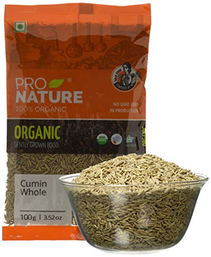 Pro Nature 100% Organic Cumin (Whole) 100g - Buy Online in