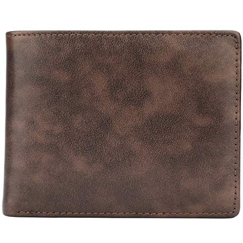 Wallet for Men-Genuine Leather RFID Blocking Bifold Stylish Wallet With 2 ID Window 7