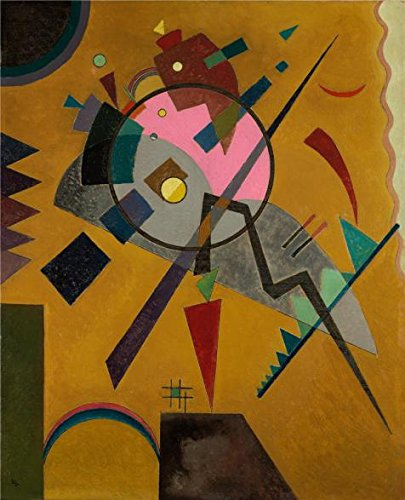 Oil Painting 'Wassily Kandinsky,Rose With Gray,1924' Printing On Perfect Effect Canvas , 8x10 Inch / 20x25 Cm ,the Best Gym Gallery Art And Home Artwork And Gifts Is This Best Price Art Decorative Canvas Prints