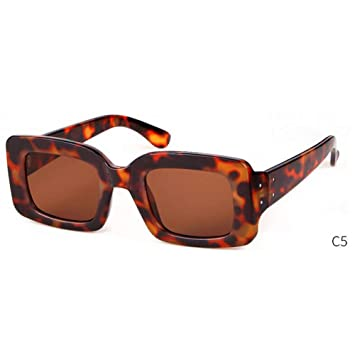 GAOHAITAO Pequeñas Gafas de Sol cuadradas Diseñador Moda ...