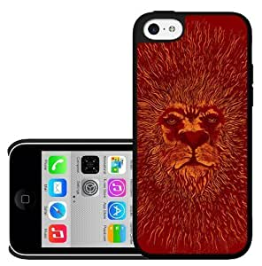 Red King of the Sun Lion Face Hard Snap on Phone Case (iPhone 5c)