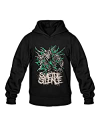 JGNOZ Men's Suicide Silence Abomination Hoodie-100% Organic Cotton