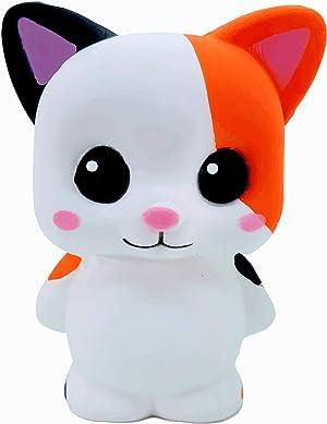 KAWAIDESU Cute Kawaii Squishies Adorable Animal Squishy Slow Rising Stress Relief Toy Jumbo