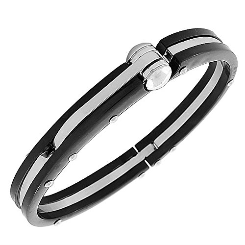 My Daily Styles Fashion Alloy Silver-Tone Mens Handcuff Bracelet