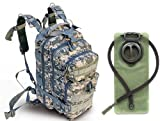 Ultimate Arms Gear ACU Army Digital Camouflage Heavy Duty Combat Multi-Functional Equipment Survival Assault Transport Medium 17″ Bug-Out Bag BackPack with Adjustable Slip Shoulder Detachable Length Straps MOLLE System Shooting Range Military Hunting Camping Law Enforcement Gear Rucksack Pack AMB3 + OD Olive Drab Green 2.5 Liter / 84 oz. Replacement Hydration Backpack Water Bladder Reservoir – Includes Hosing And Hands Free Bite Valve For Sale