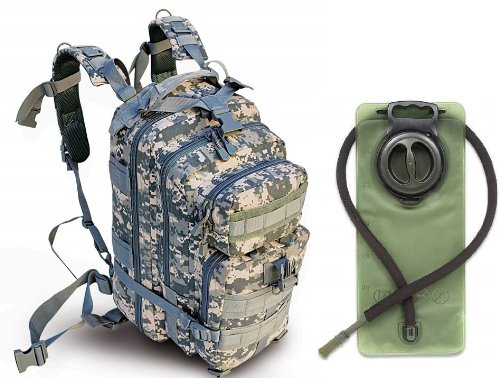 Ultimate Arms Gear ACU Army Digital Camouflage Heavy Duty Combat Multi-Functional Equipment Survival Assault Transport Medium 17