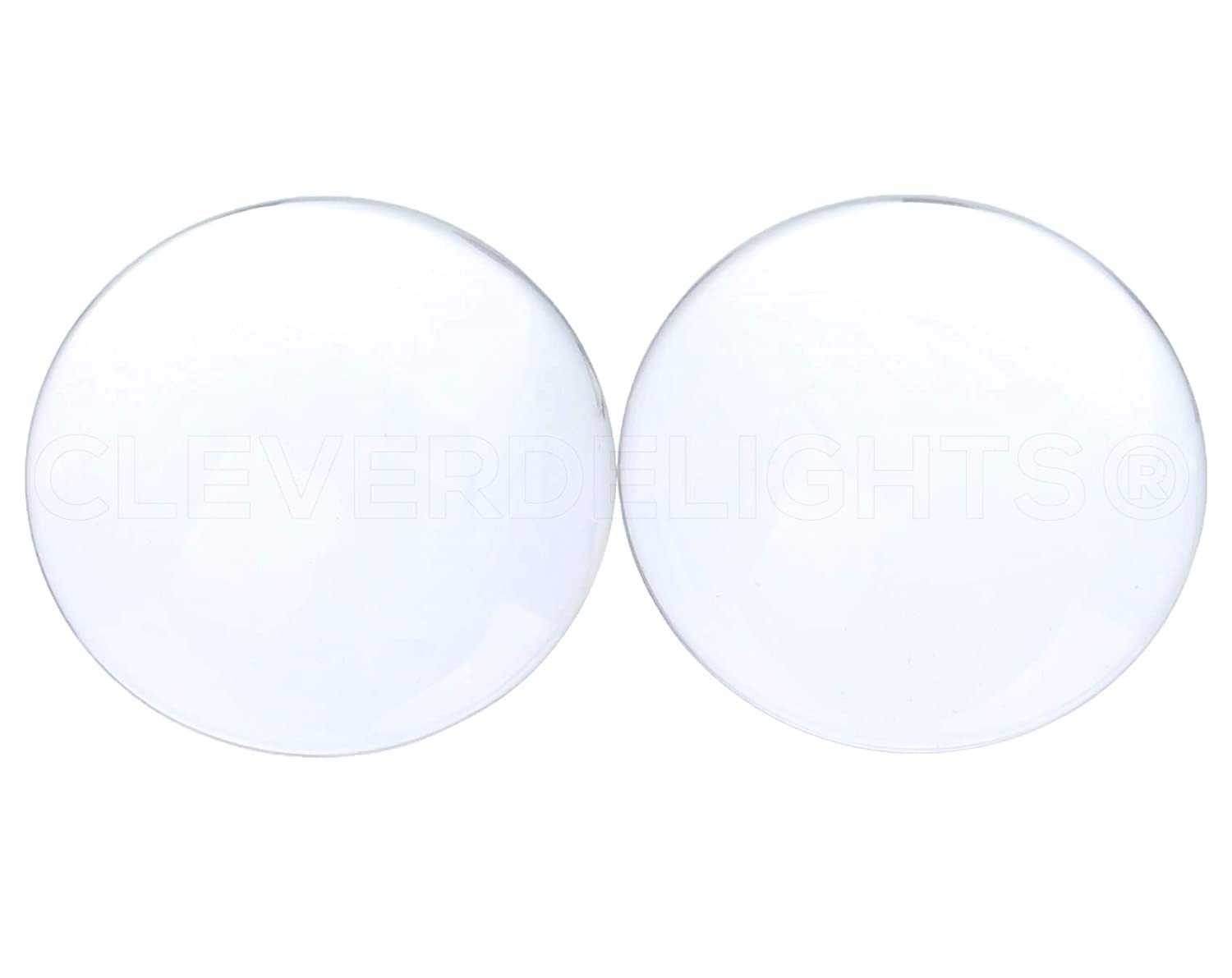 10 Pack - CleverDelights 3 Round Glass Cabochons - 5/8 Thick - Clear Magnifying Glass Dome Cabs 4336824189