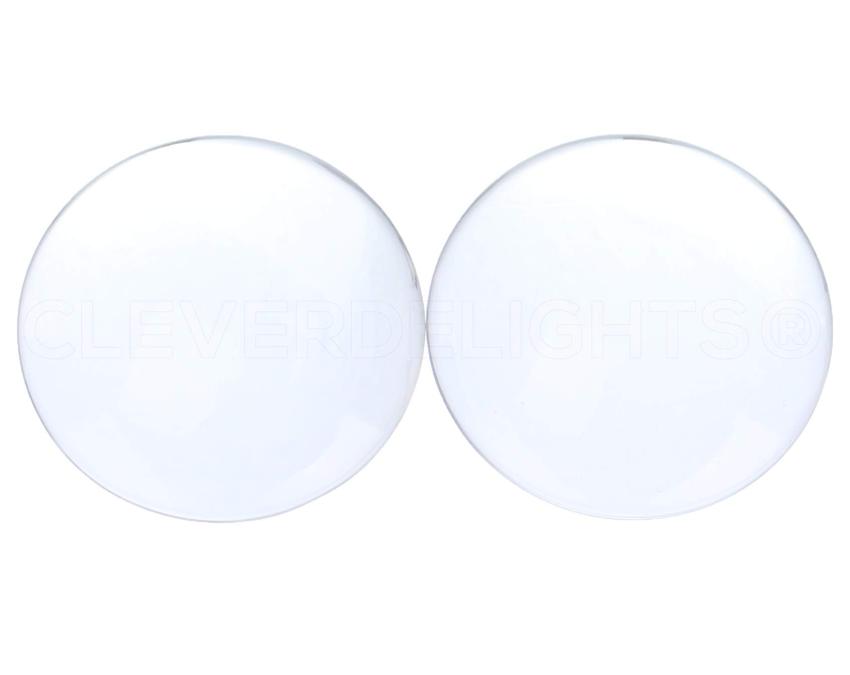 20 Pack - CleverDelights 3'' Round Glass Cabochons - 5/8'' Thick - Clear Magnifying Glass Dome Cabs by CleverDelights