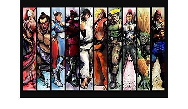 Amazon Com Lawrence Painting Street Fighter 2 4 Game Canvas Wall
