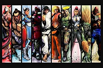 Lawrence Painting Street Fighter 2 4 Game Canvas Wall Posters Hd Big Posters And Prints Customize