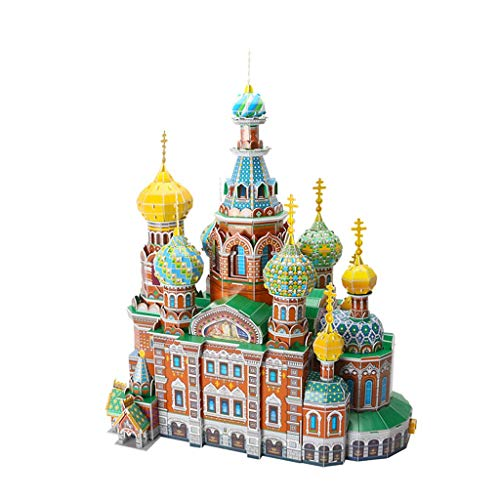 LUGEUK Church of The Savior ON Spilled BLLOOD Puzzle Model 3D Model Kits