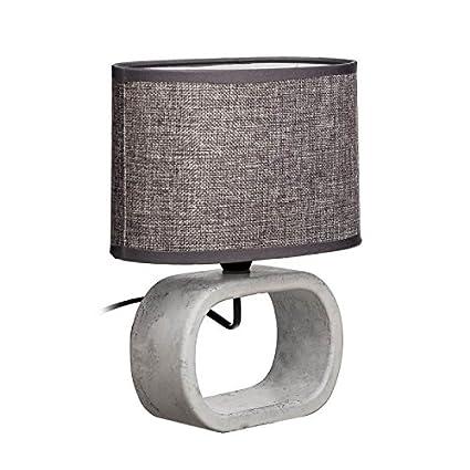Dcasa - Lámpara de mesita de noche moderna gris de cerámica ...