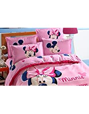Girl Minnie Mouse Bedding Set 3/4 Single Double Bed Size Down by Baby Baby Bathroom Mouse 3D Bed Sheet Single Large Size