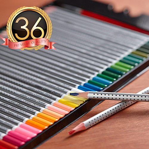 Hero Watercolor Pencils For Art Students and Professionals Assorted Colors For Sketch Coloring Pages For Kids and Adults Vibrant Colors For Drawing Books Set of 36