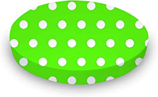 product image for SheetWorld Fitted Oval Crib Sheet (Stokke Sleepi) - Polka Dots Lime - Made In USA