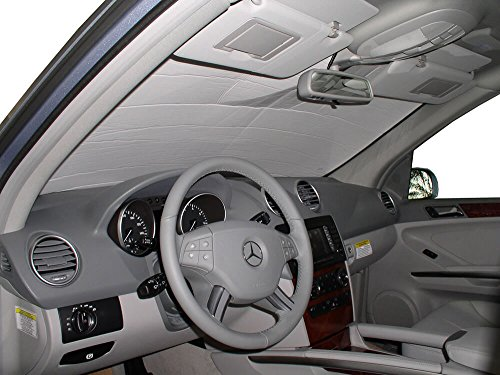The Original Windshield Sun Shade, Custom-Fit for Mercedes-Benz ML350 SUV 2006, 2007, 2008, 2009, 2010, 2011, Silver Series