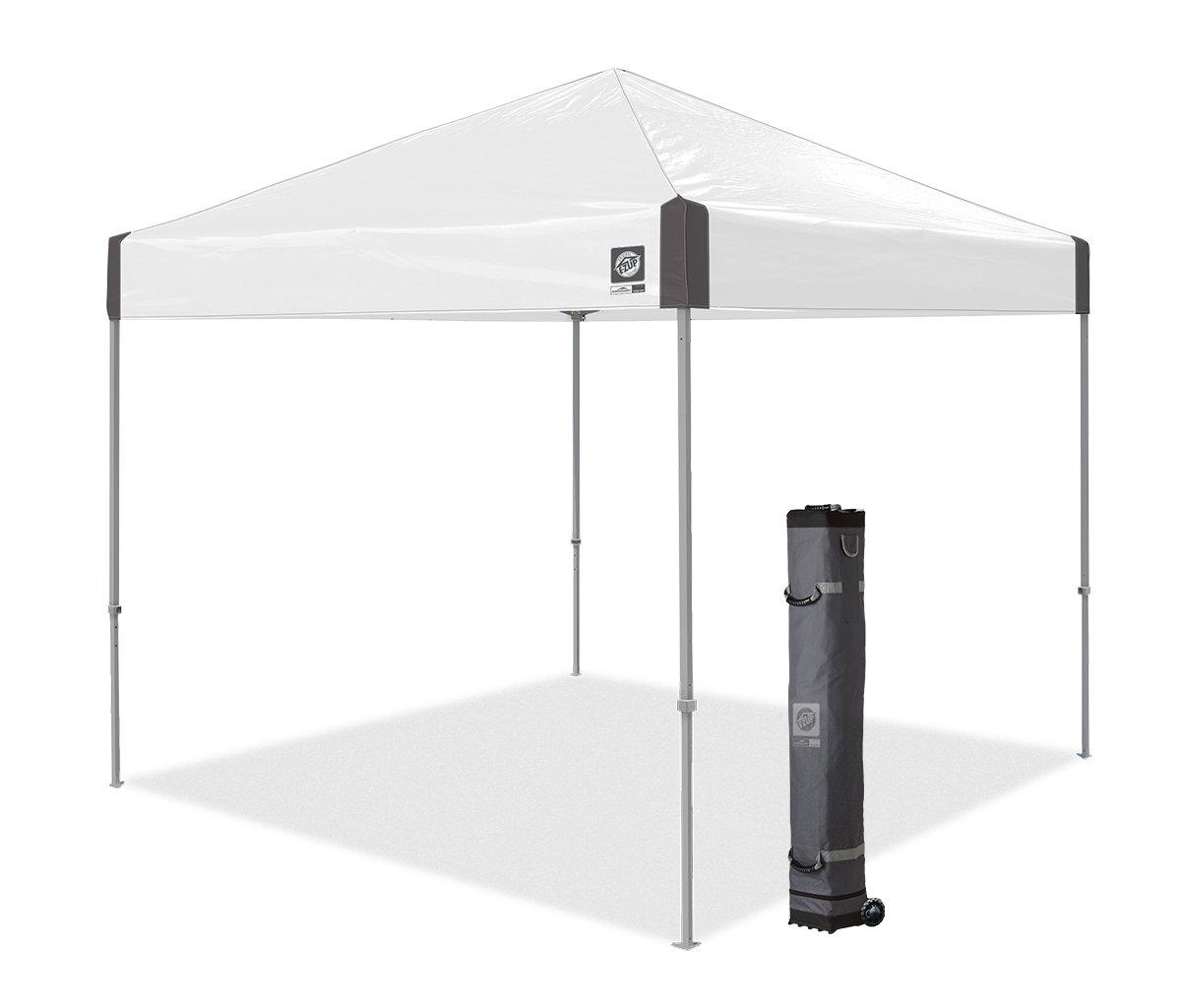 E-Z UP Ambassador Instant Shelter Canopy, 10 by 10', White Slate